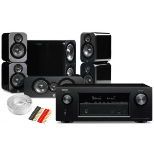 Denon AVR-X2300W AV Receiver w/ Q Acoustics 3000 Speaker Package 5.1