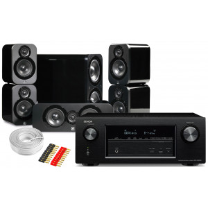 Denon AVR-X2400H AV Receiver w/ Q Acoustics 3000 Speaker Package 5.1