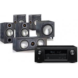 Denon AVR-X2400H w/ Monitor Audio Bronze B2 Speaker Package