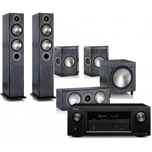 Denon AVR-X2400H w/ Monitor Audio Bronze B5 Speaker Package