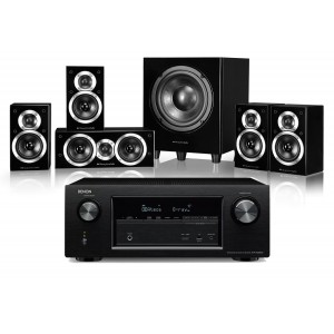 Denon AVR-X2300W AV Receiver w/ Wharfedale DX-1SE HCP Speaker Package 5.1