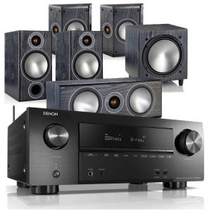Denon AVR-X3500H AV Receiver w/ Monitor Audio Bronze 2 Speaker Package (5.1)