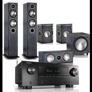 Denon AVR-X2500H AV Receiver w/ Monitor Audio Bronze 5 AV Speaker Package