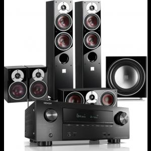 Denon AVR-X2500H AV Receiver w/ Dali Zensor 5 Speaker Package 5.1