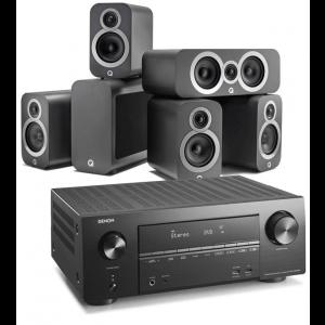 Denon AVR-X2600H AV Receiver w/ Q Acoustics 3010i Cinema Pack 5.1
