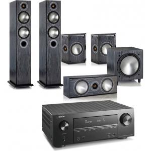 Denon AVR-X2600H AV Receiver w/ Monitor Audio Bronze 5 AV Speaker Package