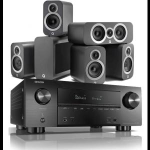 Denon AVR-X3500H AV Receiver w/ Q Acoustics 3010i 5.1 Cinema Pack