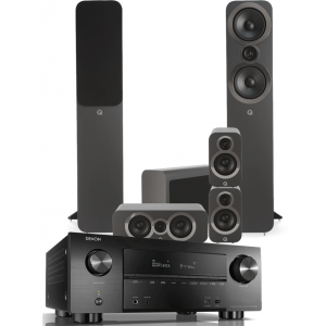 Denon AVR-X3600H AV Receiver w/ Q Acoustics 3050i 5.1 Floorstanding Speakers