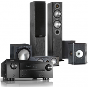 Denon AVR-X3600H AV Receiver w/ Monitor Audio Bronze 5 5.1 Speaker Package
