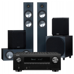 Denon AVC-X3700H AV Receiver w/ Monitor Audio Bronze 200 Speaker Package