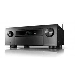 Denon AVC-X6700H 11.2ch 8K AV Amplifier Black 3D Audio, HEOS Built-in Voice Control