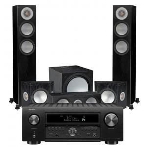 Denon AVC-X6700H AV Receiver w/ Monitor Audio Silver 200 Speaker Package