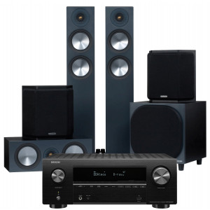 Denon AVR-X2700H AV Receiver w/ Monitor Audio Bronze 200 Speaker Package