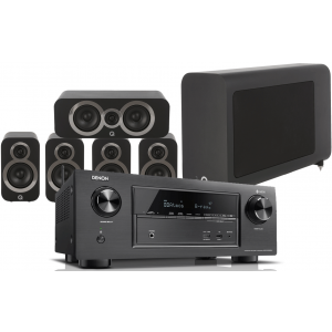 Denon AVR-X2400H w/ Q Acoustics 3010i Speaker Package