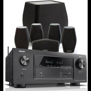 Denon AVR-X3400H AV Receiver w/ Monitor Audio MASS Speaker Package (5.1)