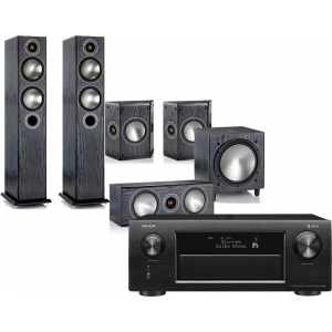 Denon AVR-X6400H AV Receiver w/ Monitor Audio Bronze B5 AV Speaker Package
