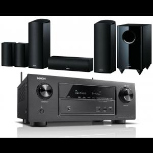 Denon AVR-X2400H AV Receiver w/ Onkyo SKS-HT588 Speaker Package 5.1.2