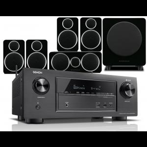 Denon AVR-X2400H AV Receiver w/ Wharfedale Diamond DX-2 Speaker Package