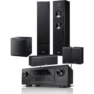 Denon AVR-X2300W AV Receiver w/ Yamaha NS-F51 Speaker Package (5.1)