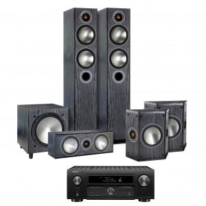 Denon AVC-X6500H AV Receiver w/ Monitor Audio Bronze 5 Speaker Package