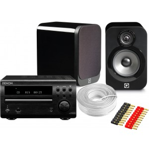 Denon DM40 DAB w/ Q Acoustics 3020 Speakers (RCD-M40)