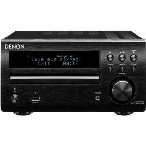 Denon DM40 DAB Micro System (Refurbished, Black)