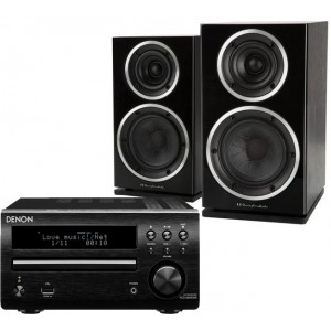 Denon DM40 DAB w/ Wharfedale Diamond 220 Speakers (RCD-M40)
