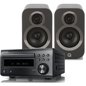 Denon RCD-M41DAB w/ Q Acoustics 3020i Speakers (DM41)
