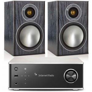 Denon DRA-100 w/ Monitor Audio Bronze 1 Speakers