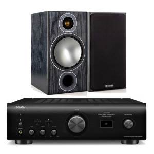 Denon PMA-1600NE w/ Monitor Audio Bronze 2 Bookshelf Speakers