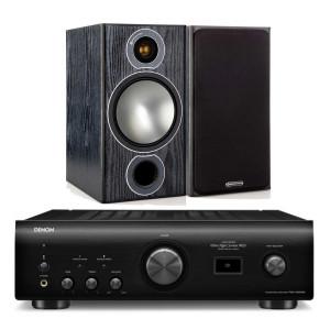 Denon PMA-1600NE w/ Monitor Audio Bronze 2 Bookshelf Speakers