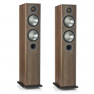 Monitor Audio Bronze 5 Floorstanders Speakers Walnut