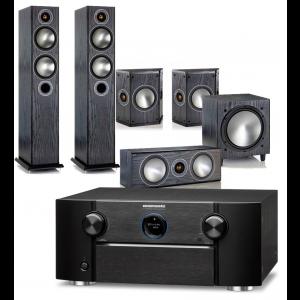 Marantz SR7013 AV Receiver w/ Monitor Audio Bronze 5 Speaker Package