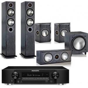 Marantz NR1607 AV Receiver w/ Monitor Audio Bronze 5 Speaker Package 5.1