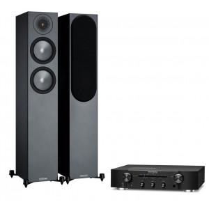 Marantz PM6007 Amplifier w/ Monitor Audio Bronze 200 Speakers