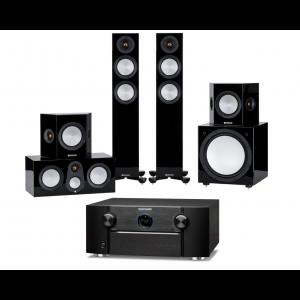 Marantz SR7015 AV Receiver w/ Monitor Audio Silver 200 7G Speaker Package