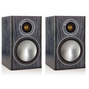 Monitor Audio Bronze 1 Bookshelf Speakers - Black Oak