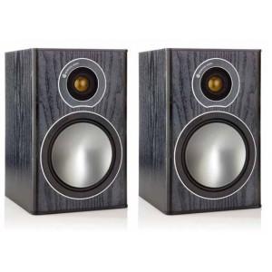 Monitor Audio Bronze 1 Bookshelf Speakers - Black Oak