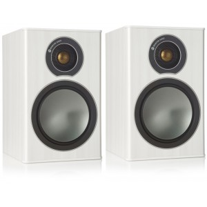 Monitor Audio Bronze 1 Bookshelf Speakers - White Ash