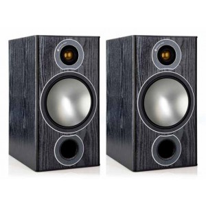 Monitor Audio Bronze 2 Bookshelf Speakers Black Oak
