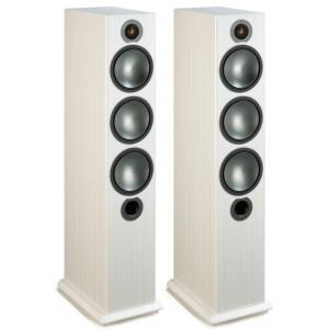 Monitor Audio Bronze 6 Floorstanding Speakers - White Ash