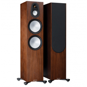 Monitor Audio Silver 500 7G Floorstanding Speakers Walnut