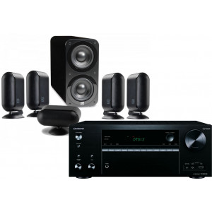 Onkyo TX-NR676E AV Receiver w/ Q Acoustics Q7000i PLUS Speaker Package 5.1