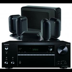 Onkyo TX-NR676E AV Receiver w/ Q Acoustics 7000i Slim Speaker Package 5.1