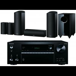 Onkyo TX-NR676E AV Receiver  w/ Onkyo SKS-HT588 Speaker Package 5.1.2