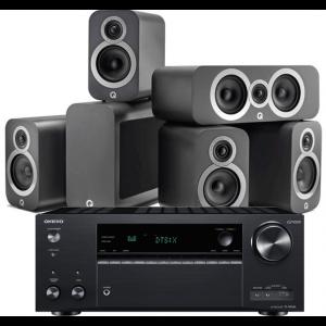 Onkyo TX-NR686 AV Receiver w/ Q Acoustics 3010i 5.1 Cinema Pack