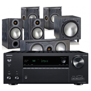 Onkyo TX-NR686 AV Receiver w/ Monitor Audio Bronze 2 5.1 Speaker Package