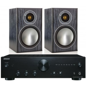 Onkyo A-9010 Amplifier w/ Monitor Audio Bronze 1 Speakers