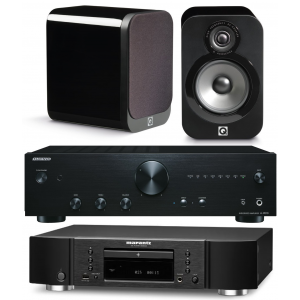 Onkyo A-9010 Amplifier w/ Marantz CD6006 w/ Q Acoustics 3010 Speakers