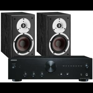 Onkyo A-9010 Integrated Amplifier w/ Dali Spektor 2 Speakers